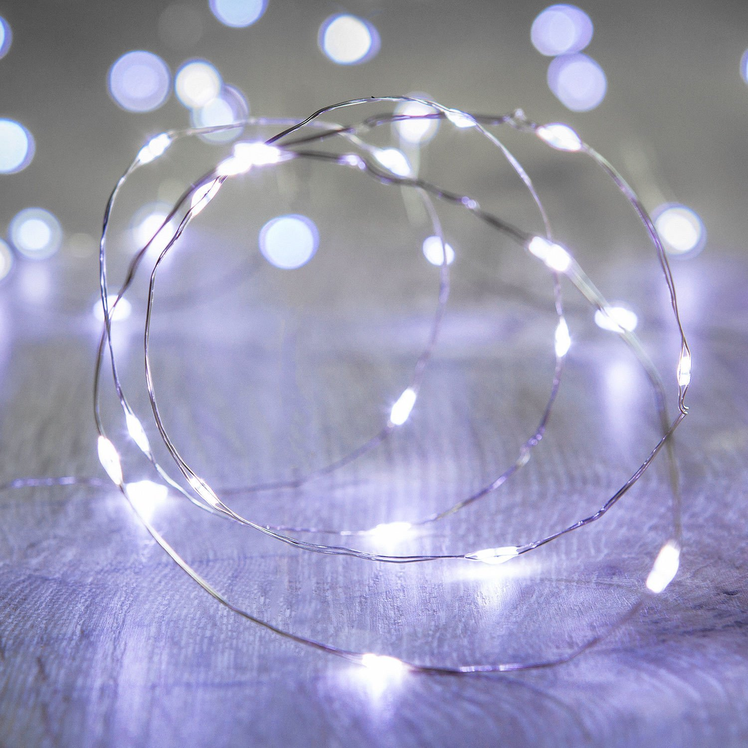 get quotations magicnight christmas cool white 10ft 30 mini micro led copper starry fairy strings lights aa battery