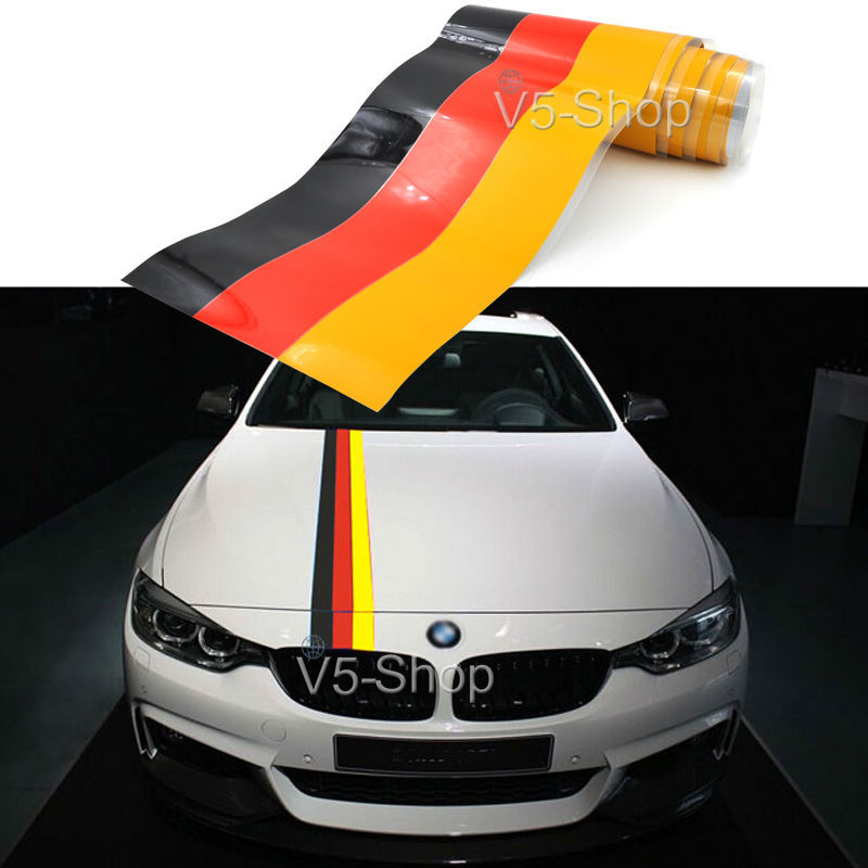 59 1 5 m allemagne drapeau bande capot de voiture vinyle autocollant decal corps pour bmw m3. Black Bedroom Furniture Sets. Home Design Ideas