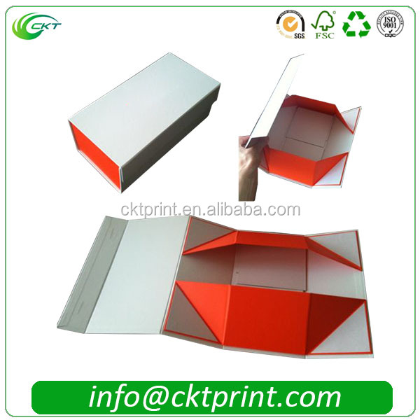 Custom Fold Printed Collapsible Cardboard Box with Magnetics
