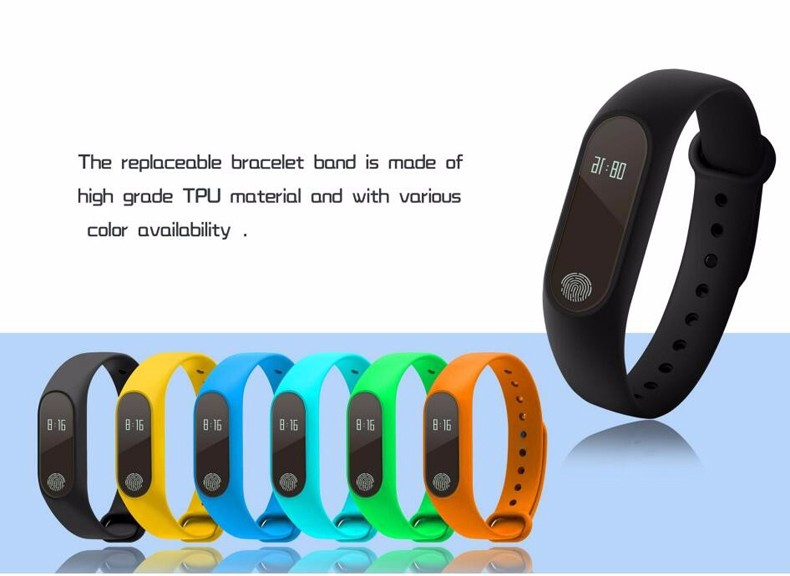 Pedometer Sleep monitor Heart Rate monitoring IP67 Waterproof Fitness Watch M2 Smart Bracelet