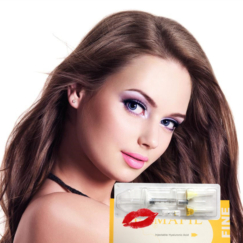 Free shipping 2ml fine Injectable hyaluronic acid lip augmentation facial wrinkle fillers фото