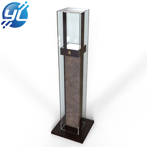 Modern glass floor standing locking display case portable jewelry display cases for trade shows