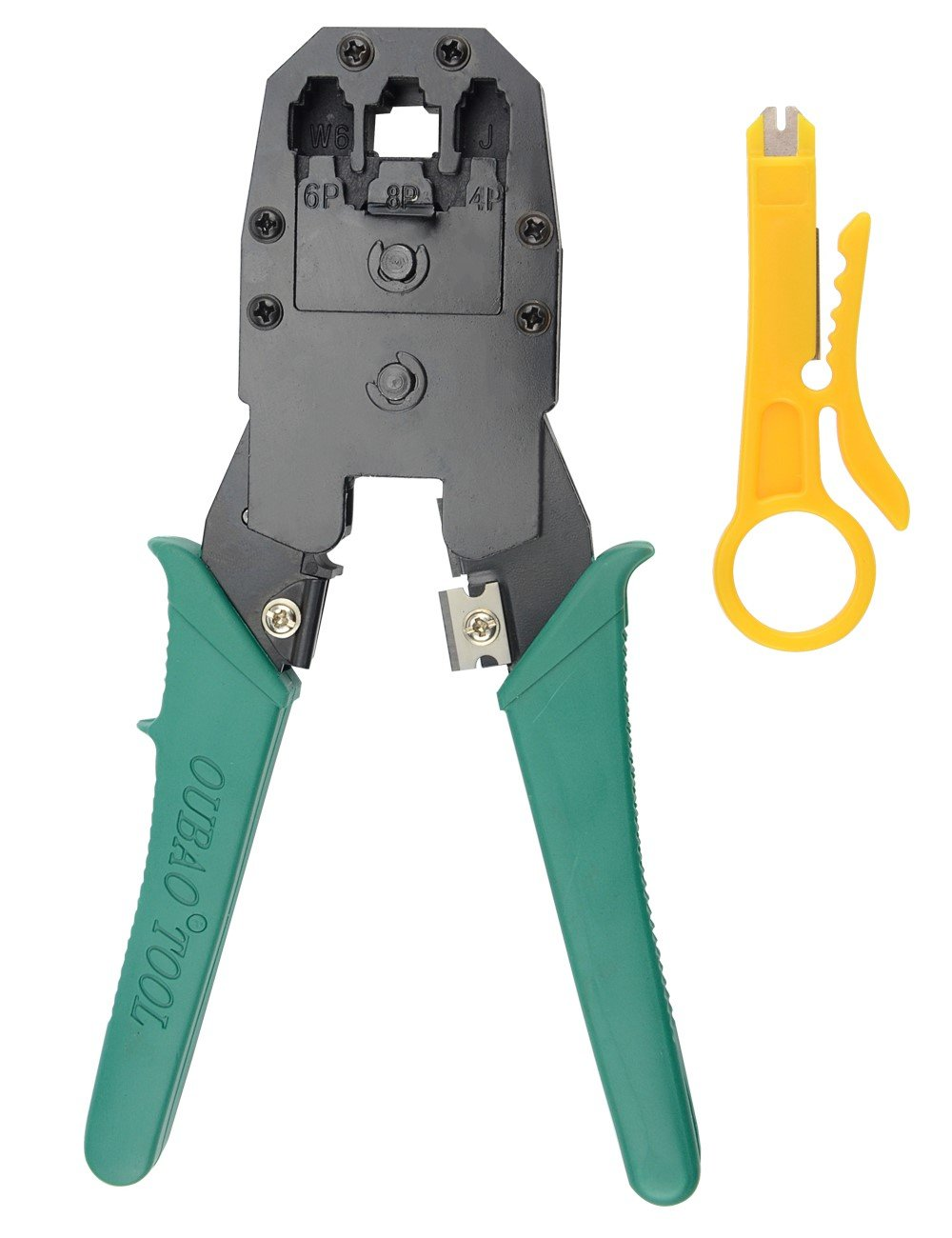 BXQINLENX Professional Multi-function Wire Crimper Telephone Tool Crimps Cable Wire Stripper Wire Crimper And Cuter For 8P8C RJ-45 6P6C RJ-11 RJ-22 4P4C (Crimper)