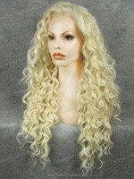 Light blonde chic hairstyle two tone synthetic ombre marley hair