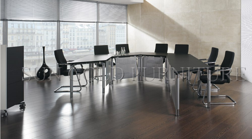 Moderna IKEA pequeño melamina ronda mesa de reuniones de oficina ...