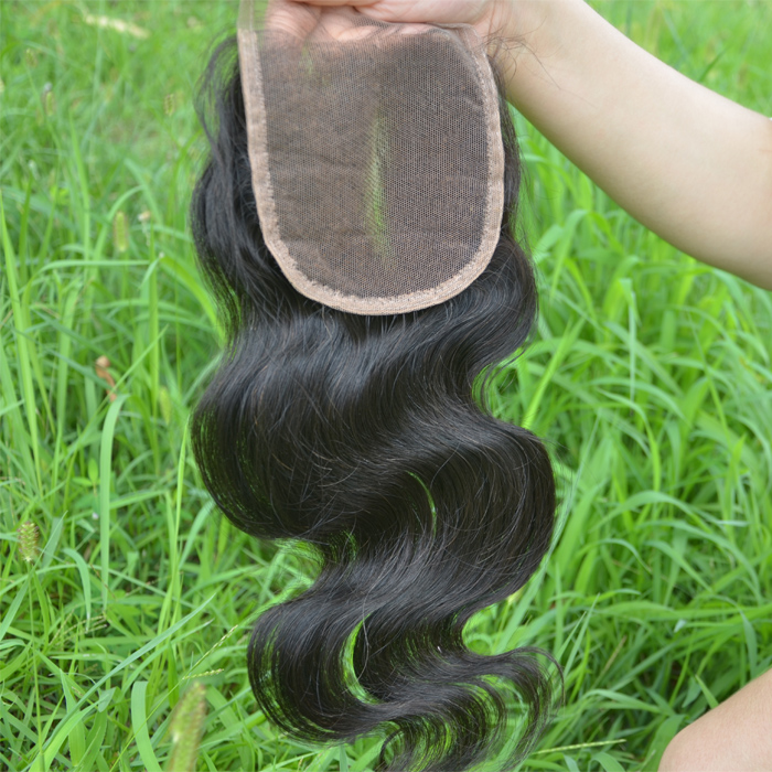 Good Feedback Fast Delivery Preferred 16 Inch Natural Color Body Wave 100% Peruvian Virgin Hair Lace Closure