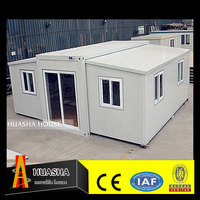 Hotel office use and steel material luxurious prefab villa