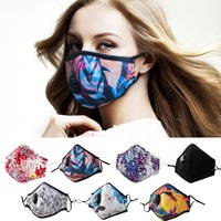 Anti pollution custom printed dust mask with PM2.5 filters