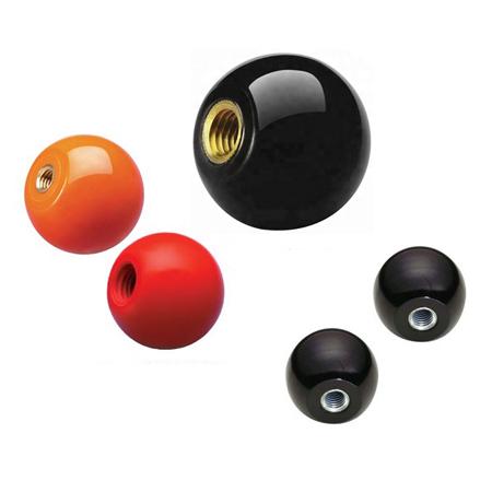 M6 Innengewinde-Maschine Kunststoff Ball Knob Griff Schwarz 100