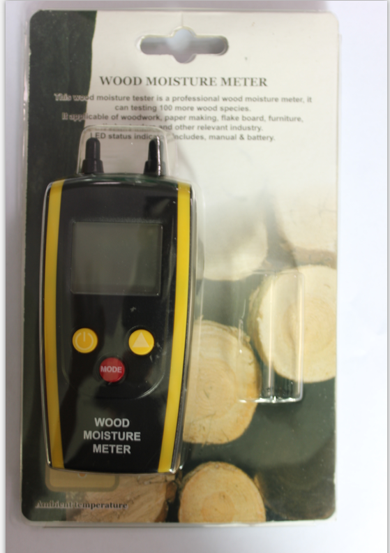 Digital Wood Moiture Meter Two Pin Timber Water Content Detector Firewood Paper Moisture Tester