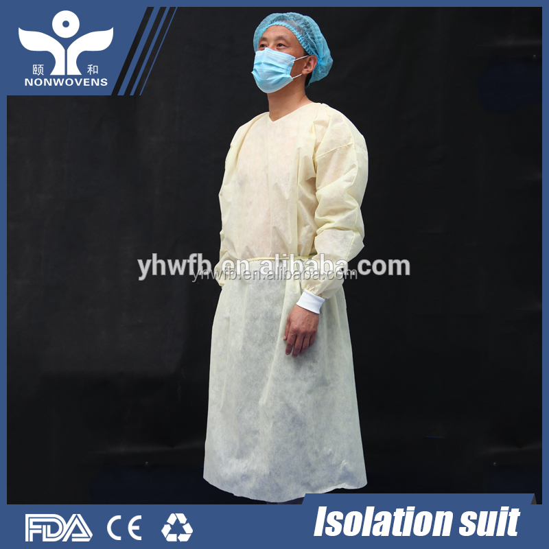 Factory Made Sterile Disposable Non Woven Fabric Material Medical Surgical Isolation Gown Clothes Suits