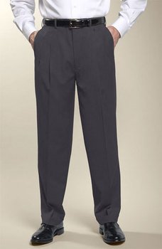 ef5b2c9a3af4 Mens flat front straight classic- fit charcoal suit trouser dress pants