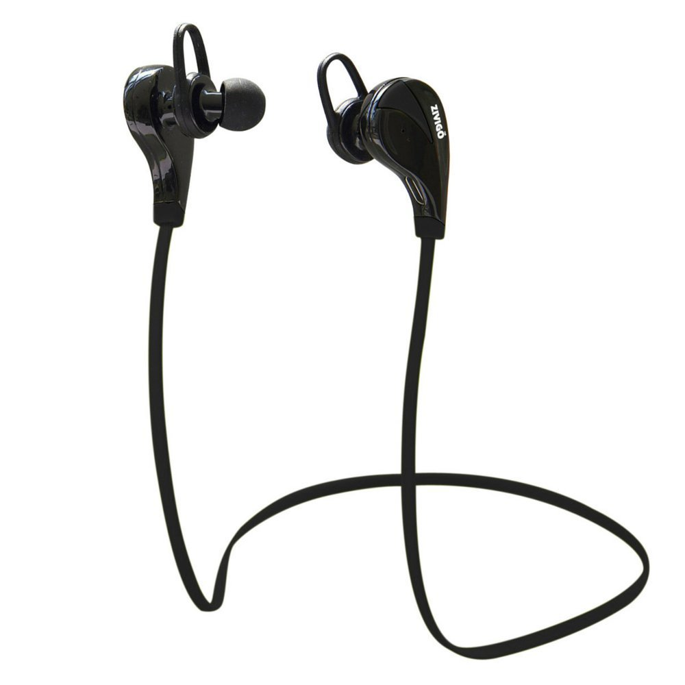 Bluetooth Headphones By Zivigo Lightweight Wireless Bluetooth Earbuds For Running, Bluetooth 4.0 with Aptx, Premium Sweat Proof Earbuds with Built in Microphone (Model ZV-600 Black)