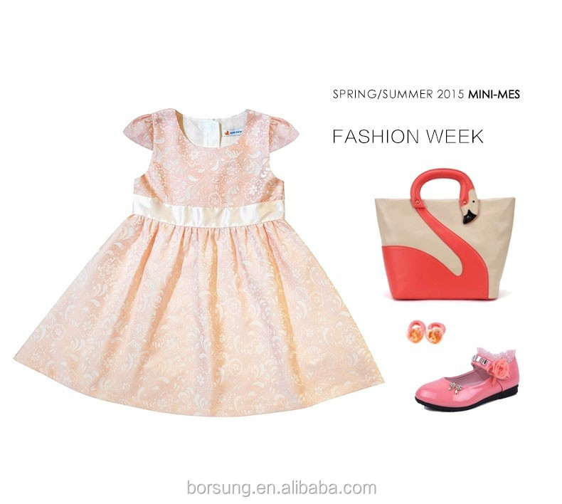 7489ab536 بوتيك ملابس الخريف القطن احدث تصاميم الفساتين الأطفال ملابس اطفال بنات زهرة  الرباط الوردي موضة فساتين