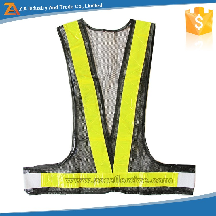 Night Running Adjustable Safety Warning Reflective Vest Gear Mesh Jacket