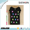 OEM latest design lady t-shirts ,cusotm printed t-shirts,crew neck t shirts for women