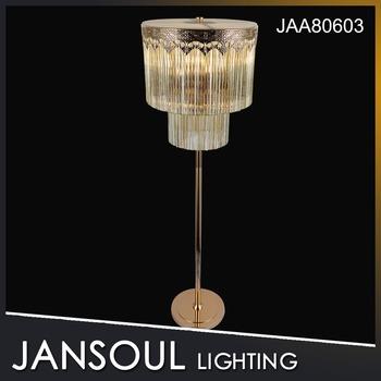 Jansoul vintage elegant crystal chandelier floor lamps for - Elegant floor lamps for living room ...