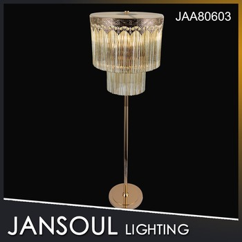 Jansoul vintage elegant crystal chandelier floor lamps for living room buy crystal floor lamp for Elegant floor lamps for living room