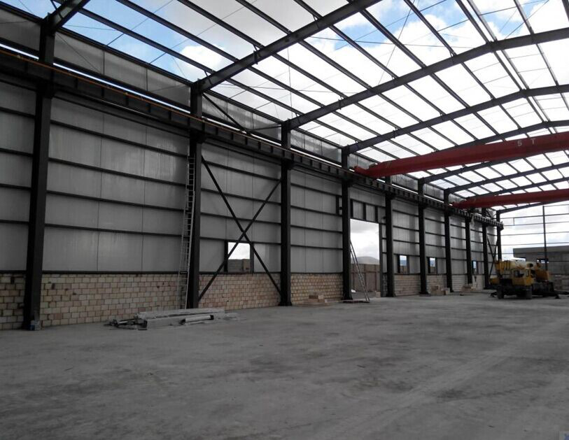 Cheap Long life colored roof large span of construction steel structure warehouse