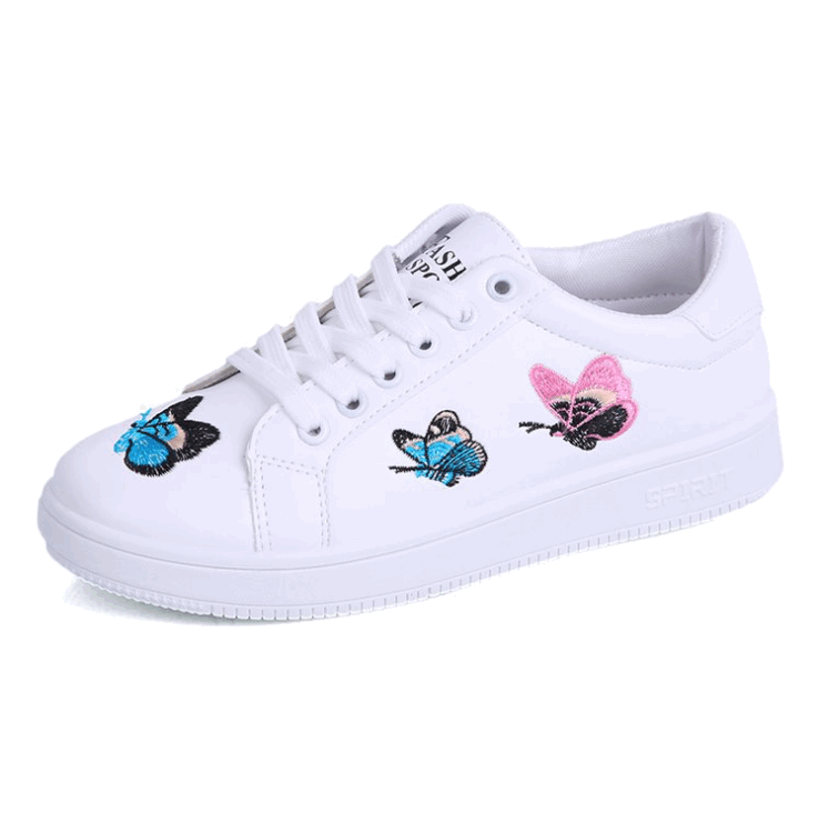 women ladies casual <strong>shoes</strong> embroidered butterfly fashion student <strong>shoe</strong>