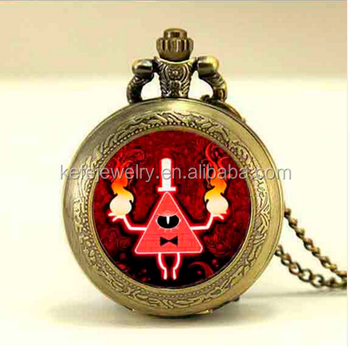 Mens Pocket Watch Gravity Falls Mysteries Bill Cipher Wheel Steampunk  Pendant Necklace - Buy Mens Pocket Watch Gravity Falls,Bill Cipher Wheel  Pocket