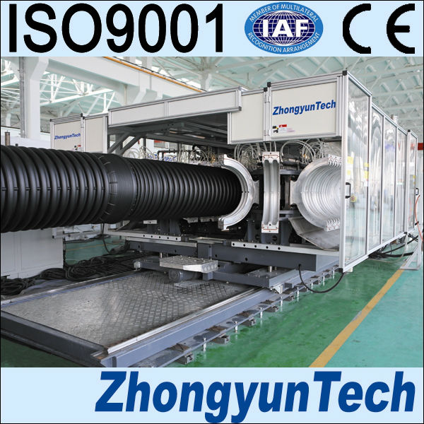 Plastic Pipe Production Line PE/PP Double Wall Corrugated Pipe Extrusion