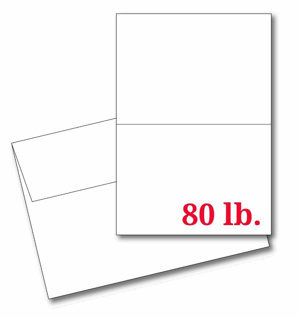 Buy 4 14 X 5 12 Heavyweight Blank White Greeting Card Sets 25