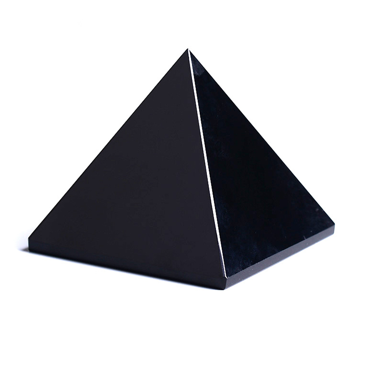 Beautiful decorative crystal crafts obsidian crystal pyramid