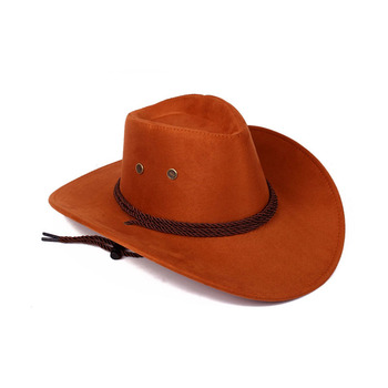 Custom high quality womens mens plain blaze orange western style crushable  felt stetson cowboy hat 028d1ac98c7
