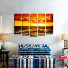 Sunrise scenery oil impressionistic paintings by numbers