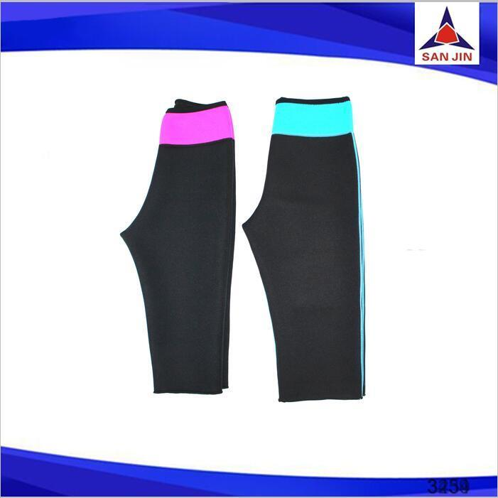 Cut weight sauna gear thai massage pants neoprene slimming lady's exercise pants