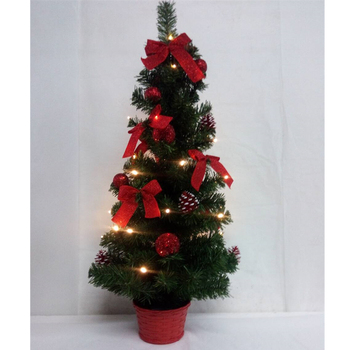 30CM 40CM 50CM 60CM 80CM Red Gold Silver LED Light Mini Christmas Xmas Tree for Home Decorations