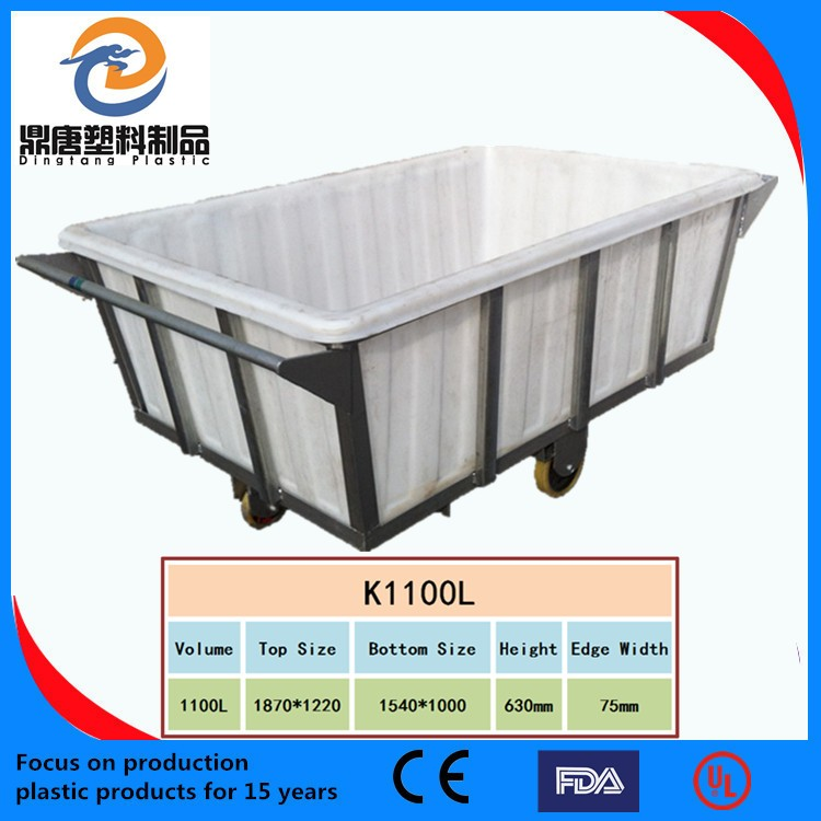 Dingtang Most competitive kitchen trolley with different size tableware storage container tank