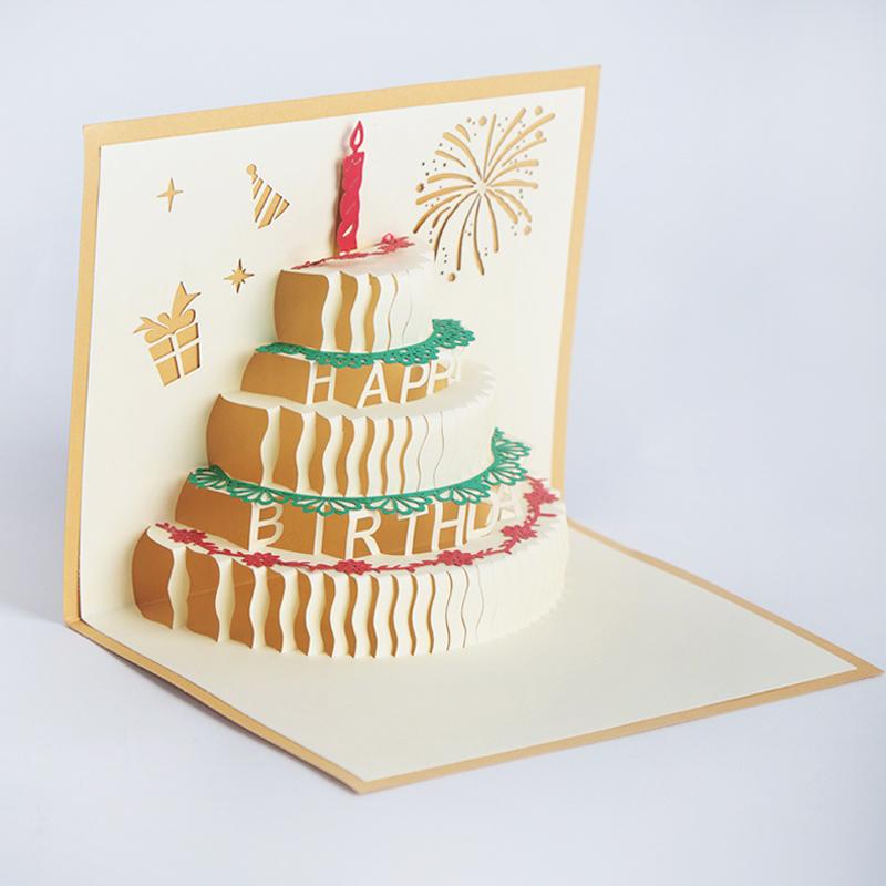 оригами 3д открытка торт на день рождения вспомнила историю