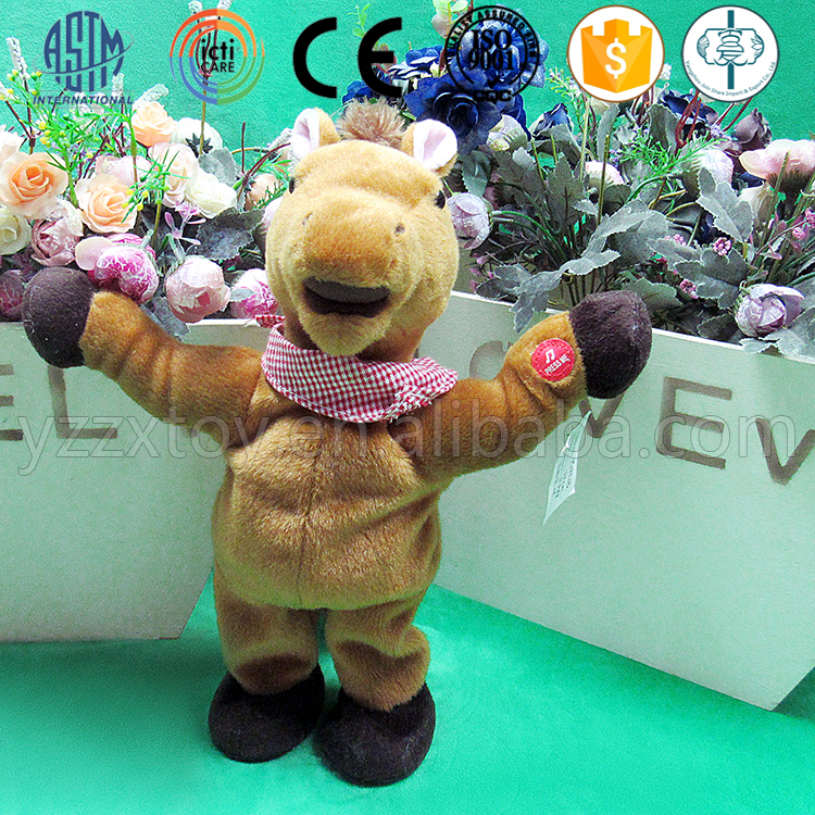 Fashion design electric talking horse plush toy for kids