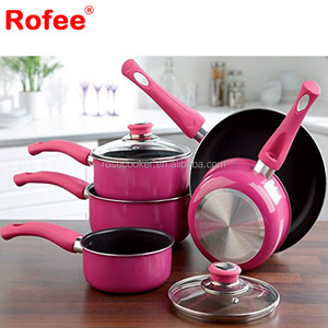 7Pcs Pressed Aluminum Non Stick Cookware Set Cooking Pot