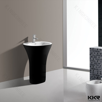 Pedestal wash basin design for dining room small size wash for Dining room sink designs