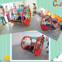 PInk and black battery swing car cheap happy car for children amusement park