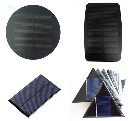 Custom Size Flexible Solar Cells 50mm Round Solar Panel