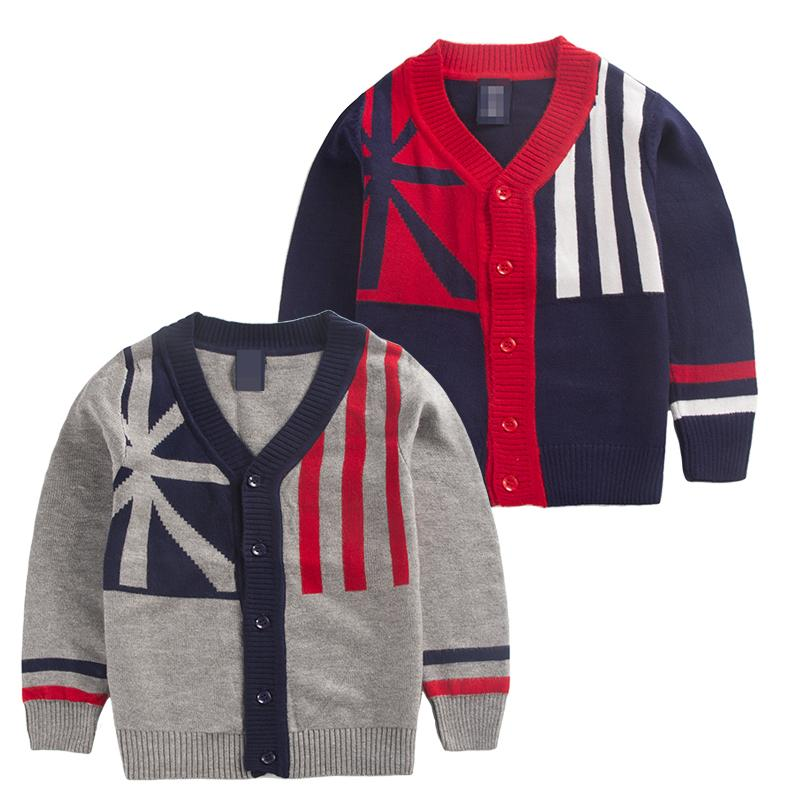 007b4b21b Buy Children  39 s Sweaters Boys cardigan flag design boys knitted ...