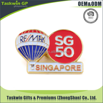 China Supplier Custom Remax Singapore Sg50 Metal Lapel Pin Badge ...