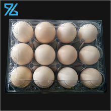 OEM supermarket packing folding clear plastic tray blister 12 packs egg cartons for sale