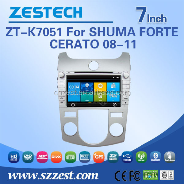 Windows CE 6.0 system 7 inch car dvd gps for Kia Cerato/Forte/Shuma/Koup 2008-2011 car audio system with car radio player 3G