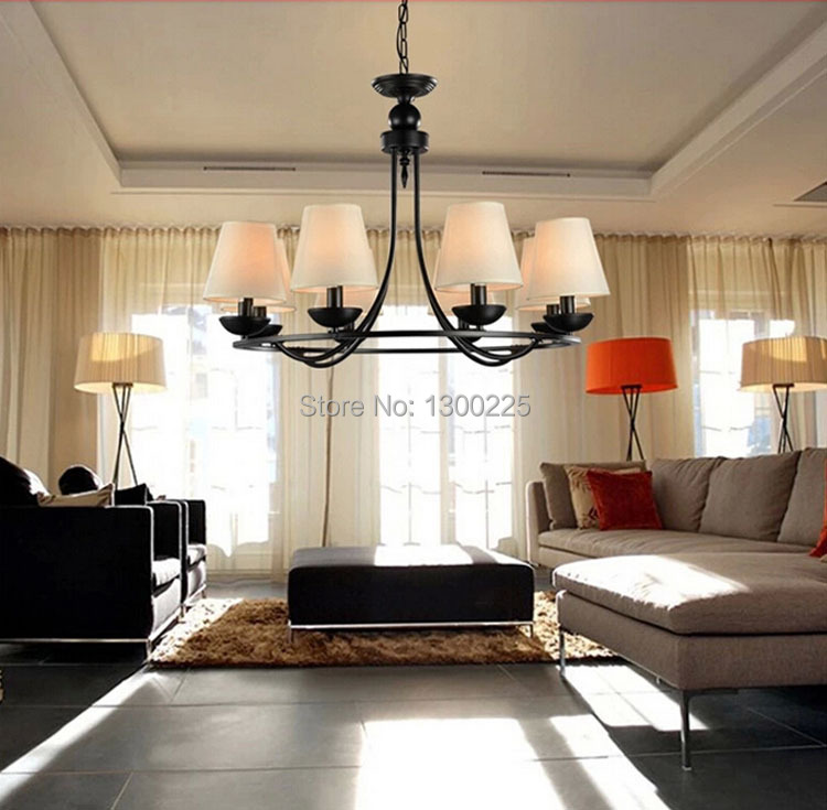 Contemporary Living Room Lighting: Modern European Style Pendant Lights Countryside Style