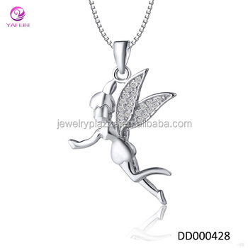 Beautiful design 925 silver fairy maiden pendant for girls necklace beautiful design 925 silver fairy maiden pendant for girls necklace mozeypictures Image collections
