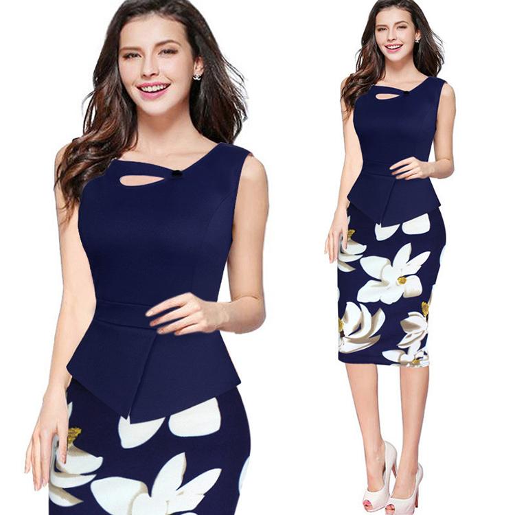 Alibaba.com / 2018 Women's Formal Work Dress Suit Office Uniform Dresses Plus Size
