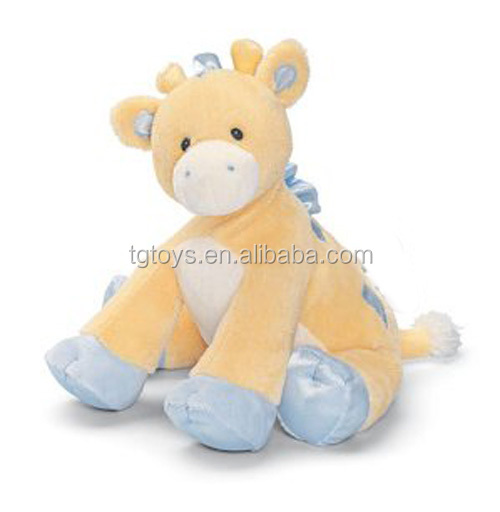 Safety and soft baby toys light yellow plush toys giraffe