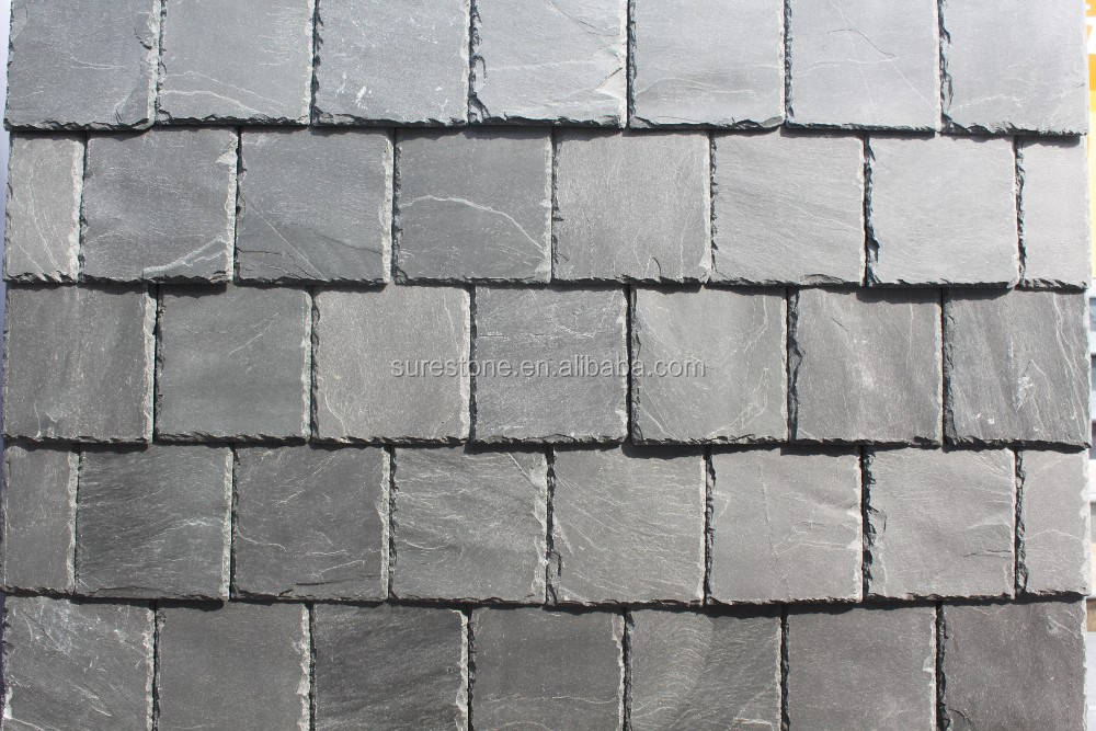 Natural Stone Rusty Slate Roof Tiles Exterior Wall Stone