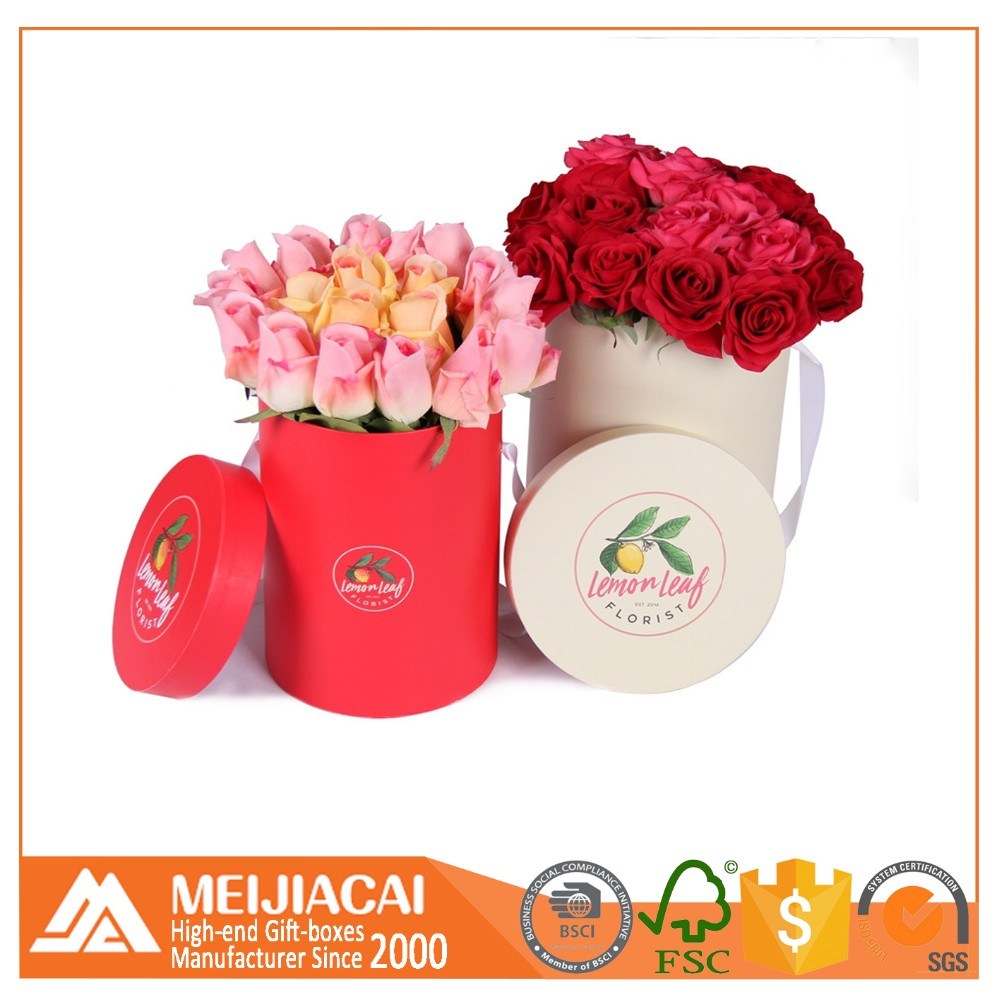 China Suppliers Luxury Gift Flower Packaging Cardboard Paper Round ...