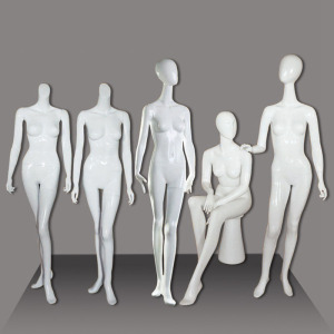 Xinji Fiberglass full body white fashion display manikin used female mannequins